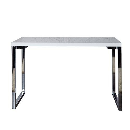 Invicta Interior Design Laptoptisch WHITE DESK 120x60 cm hochglanz weiss Schreibtisch Tisch weiß