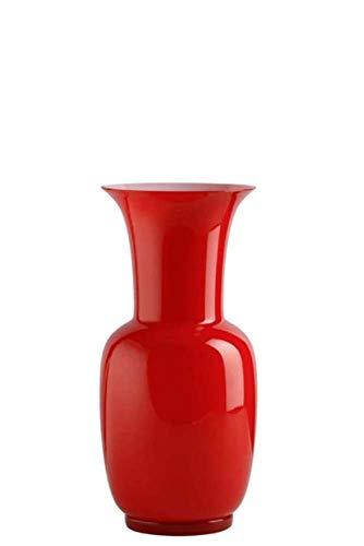 Venini Vaso Opalino Rosso/Lattimo