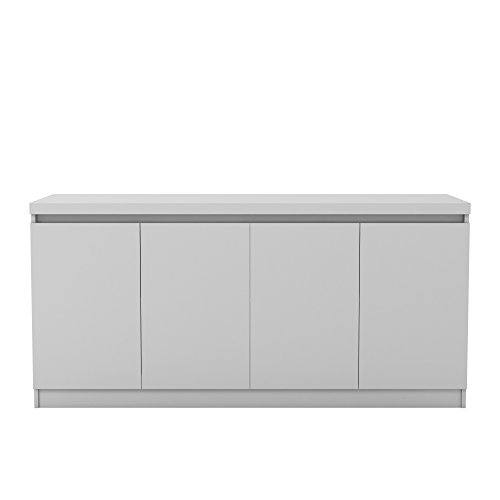 Mejor Tvilum 7004849dj Unit 2 Drawer and 3 Door Sideboard, White/Walnut crítica 2020