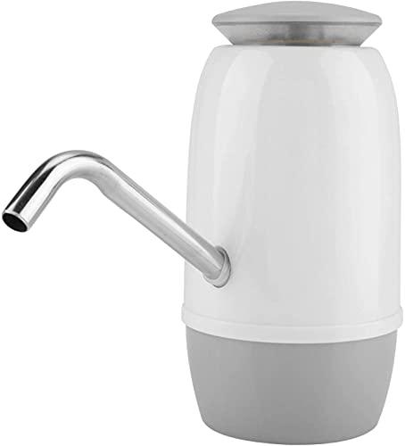 Gjrff Bomba de Botella de Agua eléctrica, portátil USB Dispensador de Agua de Botella Universal Recargable con Doble Bomba y USB Cargando por Coche, Cocina.