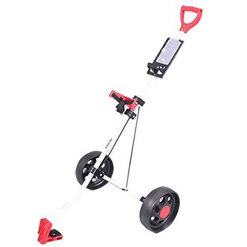 DWXN 2 Rad Golf Trolley Bullet Klappbar Golftrolley Fasan Verstellbar Rot Aluminiumlegierung Golftrolley Clicgear
