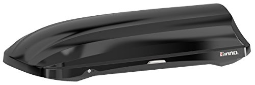 INNO BRM466BK PHANTOM 466 Cargo Box - 18 Cubic FT Holds 8-10 Skis or 4-8 Snowboards (Gloss Black)