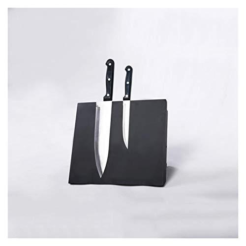Acrylic Wood Knife Storage Block without Knives For Kitchen Restaurant Bar, Empty Knife Holder Shelf Double-sided Magnetic 1115