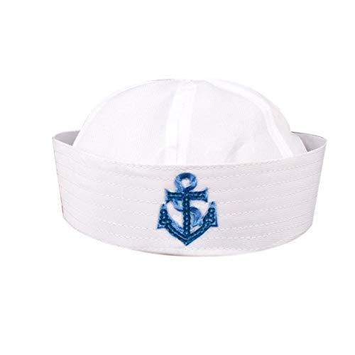 Uniforme Marineros De La Armada Blanco Gorra De Capitán del Barco De La Marina Militar del Sombrero del Casquillo del Sombrero Escenario De Funcionamiento para Hombres De Las Mujeres