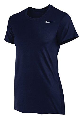Nike Legend Women's Short Sleeve Tee (Medium, Navy Blue)