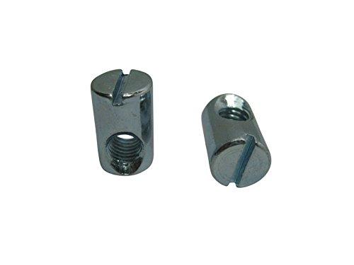 100 x Quermuttern SAMWERK® Quermutter Quergewindebolzen Kloben M6 L:16mm Ø 10mm verzinkt