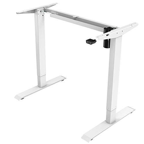 iMount E21S Electric Standing Desk/Ergonomic Height Adjustable Sit-Stand Workstation Silver (Frame Only)