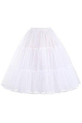 Babyonline 1950 Petticoat Reifrock Unterrock Petticoat Underskirt Crinoline für Rockabilly Kleid...