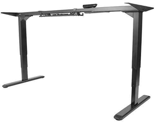 VIVO Black Electric Dual Motor Stand Up Desk Frame with Cable Management Rack | Ergonomic Height Adjustable Standing DIY Workstation (DESK-V103E)