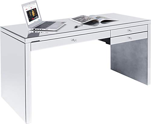 Kare Schreibtisch Luxury 140x60cm, Silber, One Size