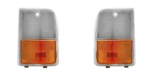 Go-Parts - PAIR/SET - for 1987 - 1990 Chevrolet (Chevy) Caprice Front Marker lights - Left & Right (Driver & Passenger) GM2551102 GM2550102 5974650 5974649