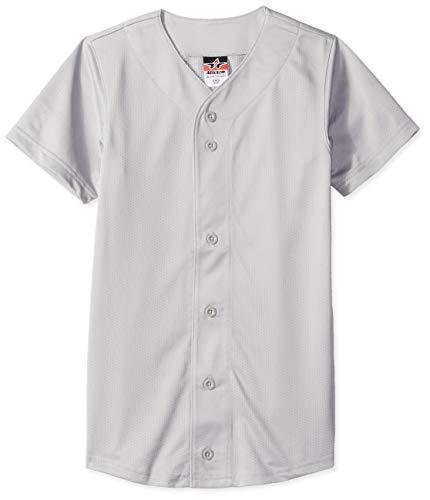 Alleson Athletic Jungen Baseball Trikot, Jungen Unisex, Baseball-Trikot, grau, Large
