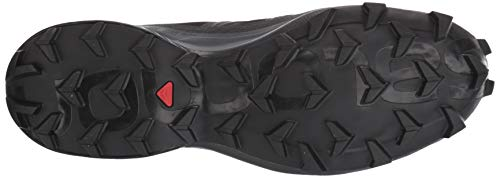 Salomon Women's Speedcross 5 GTX W Trail Running, Black/Black/Phantom, 9.5