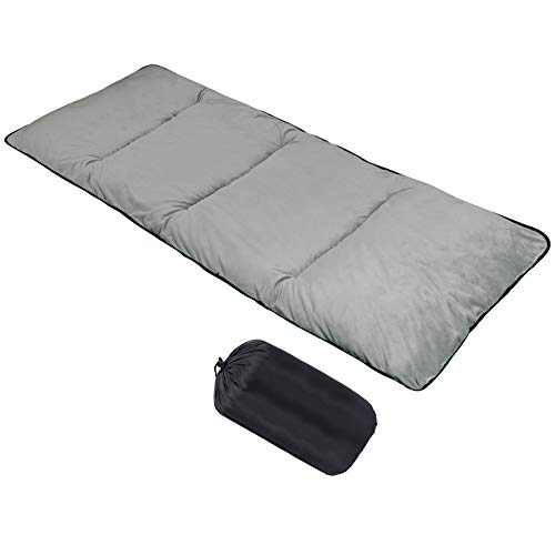 CAMPMOON Camping Cot Pads Mattress for Adults, Comfortable Thicker Cotton Sleeping Cot Pad Mattress, XL Wide Cot Pads with Waterproof Bottom, 77x29 inches, Gray