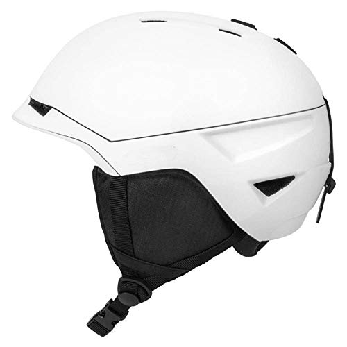 N-B Casco de esquí desmontable para hombre y mujer, casco de esquí moldeado integralmente para adultos, casco de nieve de seguridad para motos de nieve y snowboard