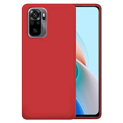 TBOC Custodia Gel TPU Rossa Compatibile con Xiaomi Redmi Note 10-Redmi Note 10s [6.43 ] Cover in Silicone Ultra Sottile e Flessibile per Cellulare [Non è Compatibile con Redmi Note 10 5G]
