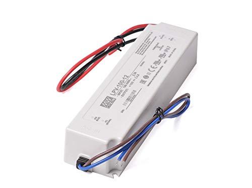 Kingled – Alimentation MeanWell LPV-100-12, tension constant 12V 100W, imperméable IP67, transformateur AC 220 V à DC 12 V
