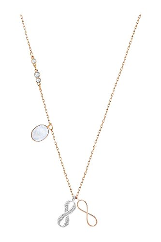 Swarovski Damen-Kette mit Anhänger Duo Infinity Silber vergoldet Kristall Mehrfarbig 38 cm - 5182086