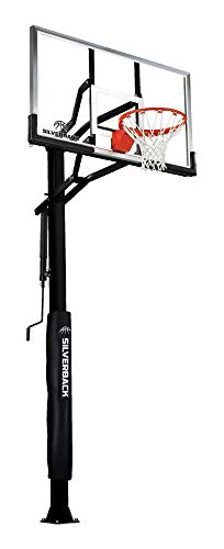 Silverback 60' In-Ground Basketball Hoop, Adjustable Height Tempered...