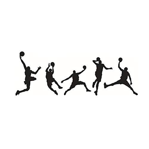 Cuadros Decoracion Calcomanía de pared de baloncesto CVG, pegatinas de vinilo DIY para pared deportiva, calcomanía de jugador de baloncesto, calcomanía de jugador de bal