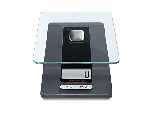 Soehnle Báscula de cocina Fiesta con gran pantalla LCD, pes