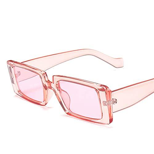 AMFG Fashion Square Gafas de sol Femenino Tendencia Color Transparente Personalidad Mascule Gafas de sol Masculina Solar Gafas Gafas de verano Decoración de protección solar (Color : D)