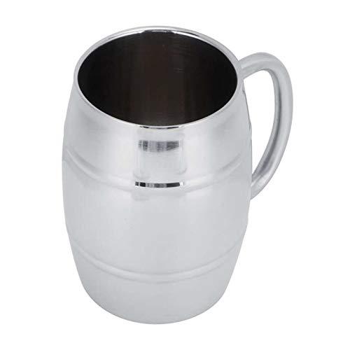 Augus Jacob 500ml Wassertasse doppelt □ Schicht Edelstahl Bier Becher Outdoor Camping Tee Kaffeetasse mit Griffbar Getränk Getränk Geschenk (Color : 3)