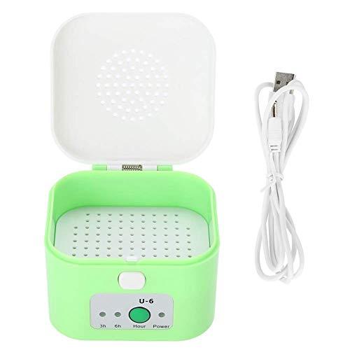 Yiyu Hörgerätetrockner - Electric USB-Trockenbox, Kopfhörer-Luftentfeuchter, Feuchtigkeitsgeschützter Hörgerätetrockner-Koffer Grün x (Color : Green)