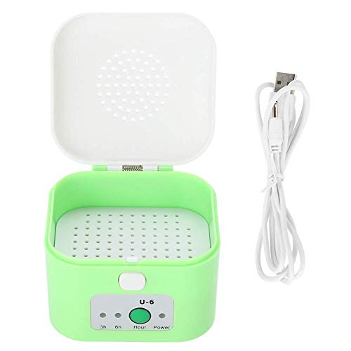 Hearing aid Dryer - Electric USB Dry, Headphone dehumidifiers, Moisture-Proof Hearing aid Dryer Suitcase Garden x (Color : Green)