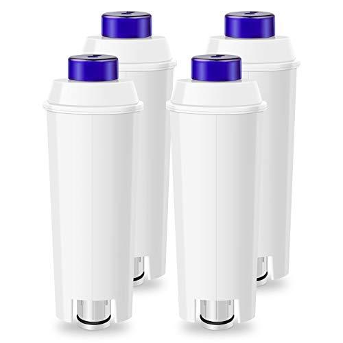 LADYSON Filtro de agua para cafeteras DeLonghi DLSC002, cartucho de filtro de repuesto compatible con ECAM, ETAM, Esam, BCO, EC Serie (4 unidades)
