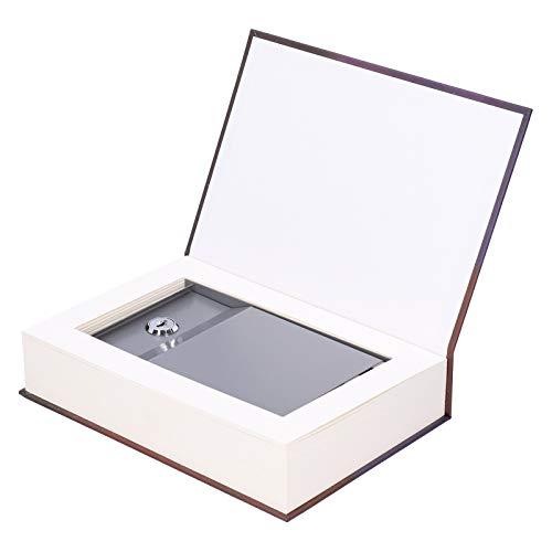 Caja Fuerte con Apariencia de Libro, Caja Fuerte con Apariencia de Libro Mini Caja Fuerte con 2 Llaves Caja de Ahorro para niños. Guarde Bien Sus Objetos personales de Valor para Guardar
