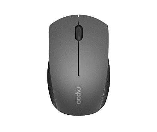 Rapoo 3360 kabellose optische Mini Maus mit 2,4 GHz Wireless-Verbindung, hochauflösendem 1000 DPI Sensor, grau