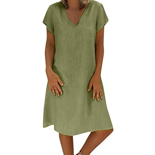 Vectry Vestidos De Fiesta para Bodas Talla Grandes Vestidos De Playa Largos Vestidos Casual De Mujer Verano Vestidos Midi Mujer Vestido Verano Vestidos para Niña Vestido Verde