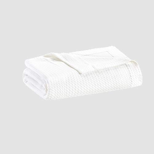 Madison Park Egyptian Cotton Luxury Blanket White 108x90 King Size...