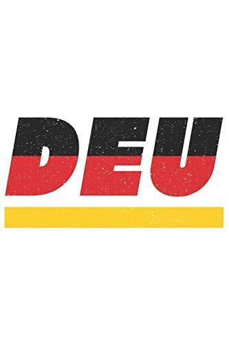 DEU: Deutschland Notizbuch mit punktraster 120 Seiten in weiß. Notizheft mit der deutschen Flagge