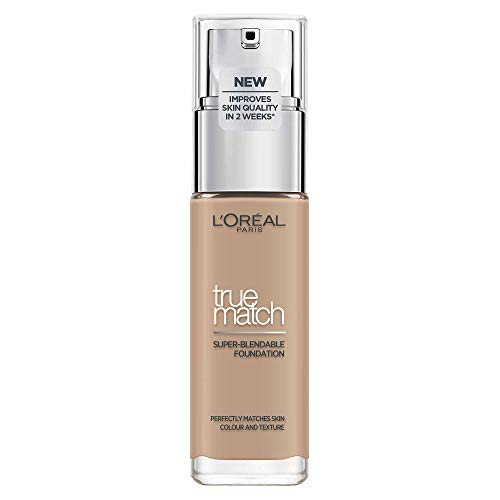 L'Oréal Paris True Match Foundation 4.N Beige - L'Oréal Foundation met Hyaluronzuur & Natuurlijke Dekking, met SPF 17-30 ml (Perfect Match), 4.N Dutch