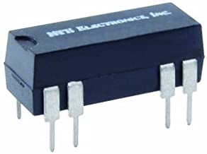 NTE Electronics R57-2D.5-12D General Purpose Dual in Line Package DC Reed Relay with Internal Clamping Diode, DPST-NO, 0.5...