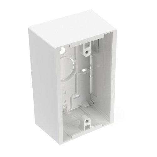 Leviton 42777-1WA Surface Mount Backbox, Single Gang, White, Box Depth Is 1.89 Inches