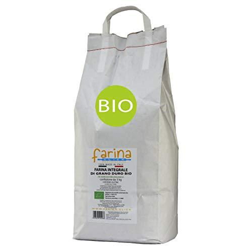 farina integrale biologica di grano duro italiano BIO origine Altamura (confezione farina da 5 kg)