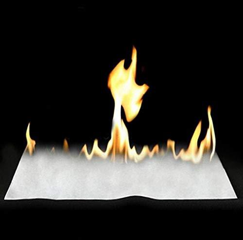 10 Piezas de Papel Flash de 50x20 cm / 10 Sheets 50x20cm White Fire Paper / Magic Paper ---- Truco de Magia, Truco de Fiesta, Truco de Magia, Kits de Magia
