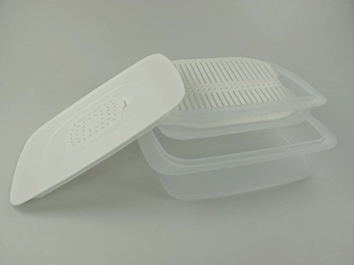 TUPPERWARE Cool`N Fresh 1,5 L + 700 ml + Klimadeckel weiß + Frischegitter weiß