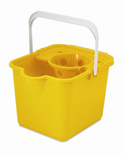 ADDIS - Cubo para fregona con escurridor (12 L), color amarillo