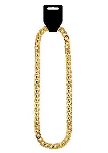 Hi Fashionz Neon Beads Collar Brazaletes Vestido Accesorio 80s Disco Party Jewellery (Cadena de Oro Gangster) Talla �nica