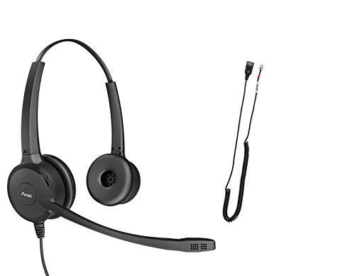 Professionelles Headset Bundle Axtel Prime Duo mit AXC-04 Kabel   Geräuschunterdrückung – kompatibel mit Cisco 6900, 7800, 7900, 8800, 8900, 9900 Serie