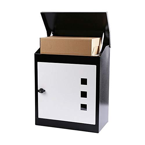 QQRH Briefkasten,Smart Parcel Box,mittelgroßer Paketbriefkasten mit Paketfach und Briefkasten,sicherer Paketkasten für Zuhause und Unternehmen mit Rückholsperre,für alle Zusteller geeignet