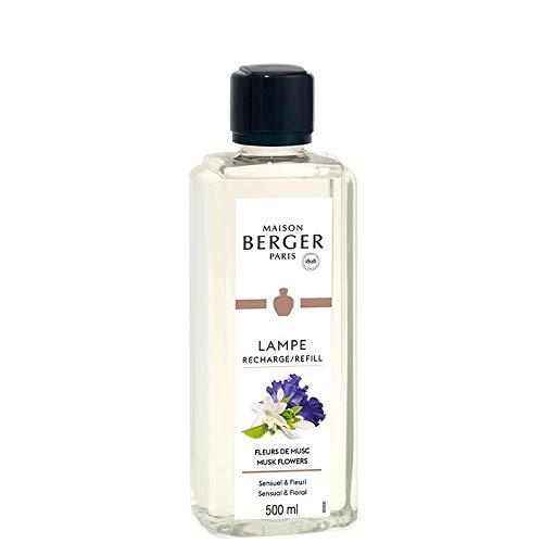 Maison Berger Paris – Recarga lámpara con aroma de flores de almizcle – 1 l