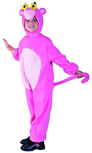Foxxeo Panther Kostüm Pink für Kinder Größe 122-128