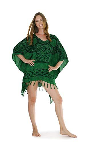La Fleva Women's Swimsuit Beach Cover Up Bikini Beachwear Bathing Suit Beach Dress in Celtic-Green-42
