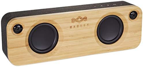 Marley Get Together Cassa Bluetooth Portatili, Altoparlante Portatile in Bambù Sostenibile, Wireless Senza Fili, Autonomia Batteria da 8 Ore, Compatibile Samsung, iPhone, Android, Tablet, Nero