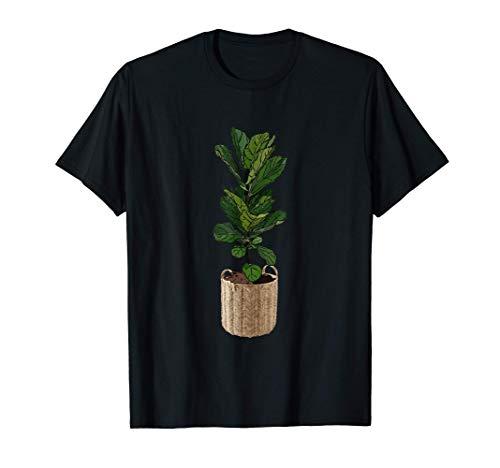 Fun Plant Mom Fiddle Leaf Fig en cesta de mimbre Camiseta